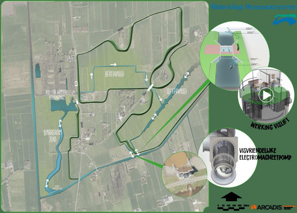 kaartje waar de werkzaamheden plaatsvinden.