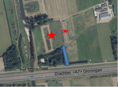 Locaties waar de werkzaamheden uitgevoerd worden.