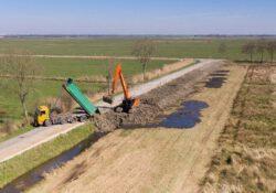 Tijdelijk asfalt Dijkweg wordt komende week weggehaald