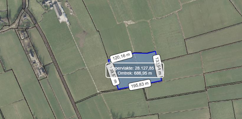 Landkaart met depot aangegeven