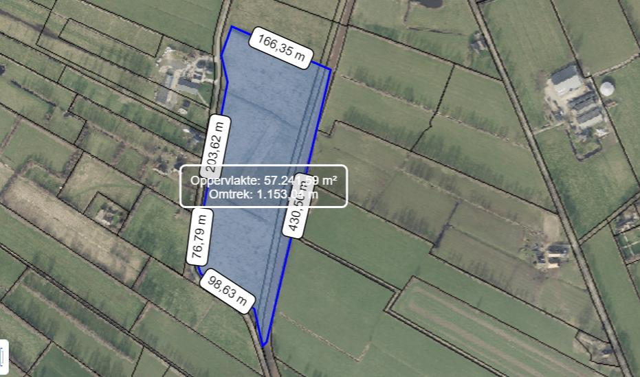 Detailkaart met aangegeven depot