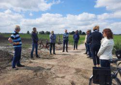 Dagelijks Bestuur Waterschap Noorderzijlvest bezoekt projectgebied